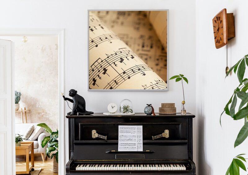 Musikposter Noten Vintage