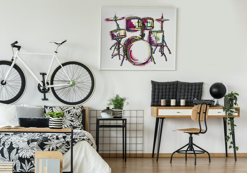 Poster Musik-Motiv im Jugendzimmer