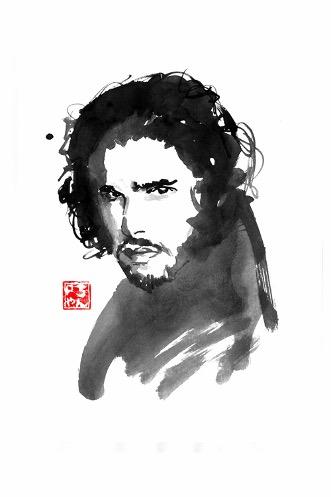 Jon Snow - Singulart.com ©  Pechane Sumie