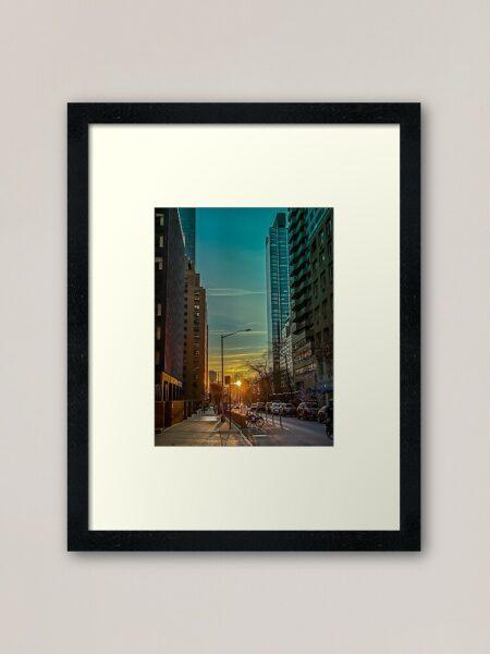 Sonnenuntergang in den Straßen von Manhattan