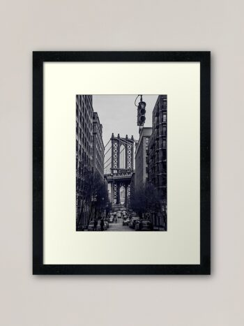 Manhattan Bridge, New York Gerahmter Kunstdruck